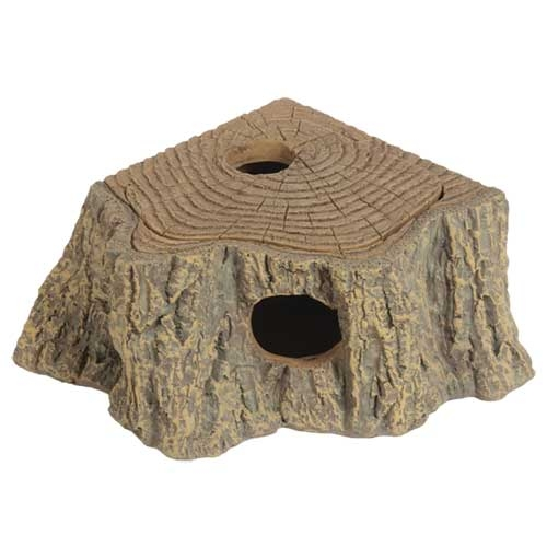 Cachette Grotte d'angle Stump, 12x11x5 cm